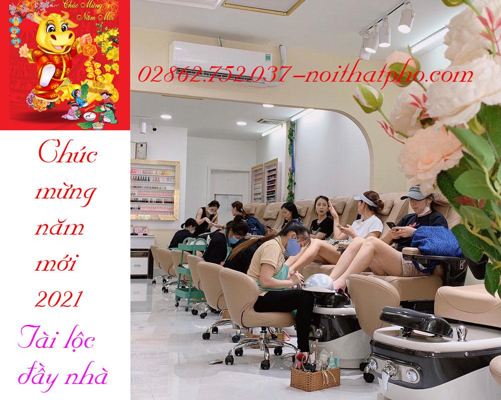 GIẢM GIÁ CHÀO ĐÓN XUÂN 2021 KHI MUA Ghế Nail-bàn nail, ghế sofa-tủ mỹ phẩm-salon tóc...