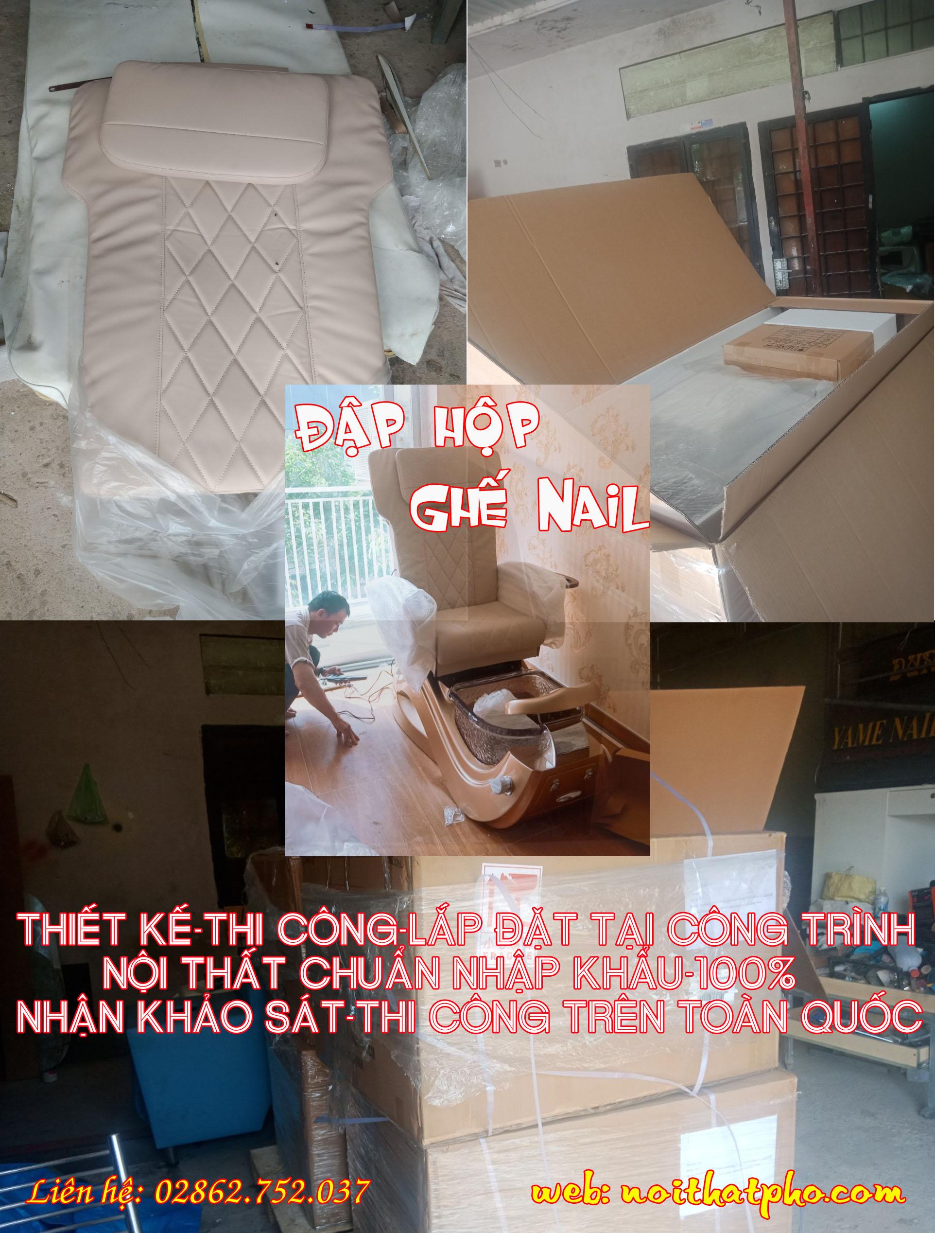 Thiết kế tiệm Nail mệnh Kim