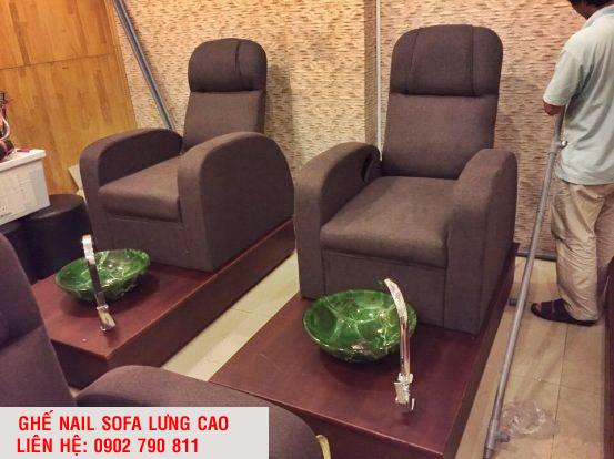 GHẾ NAIL SOFA LƯNG CAO