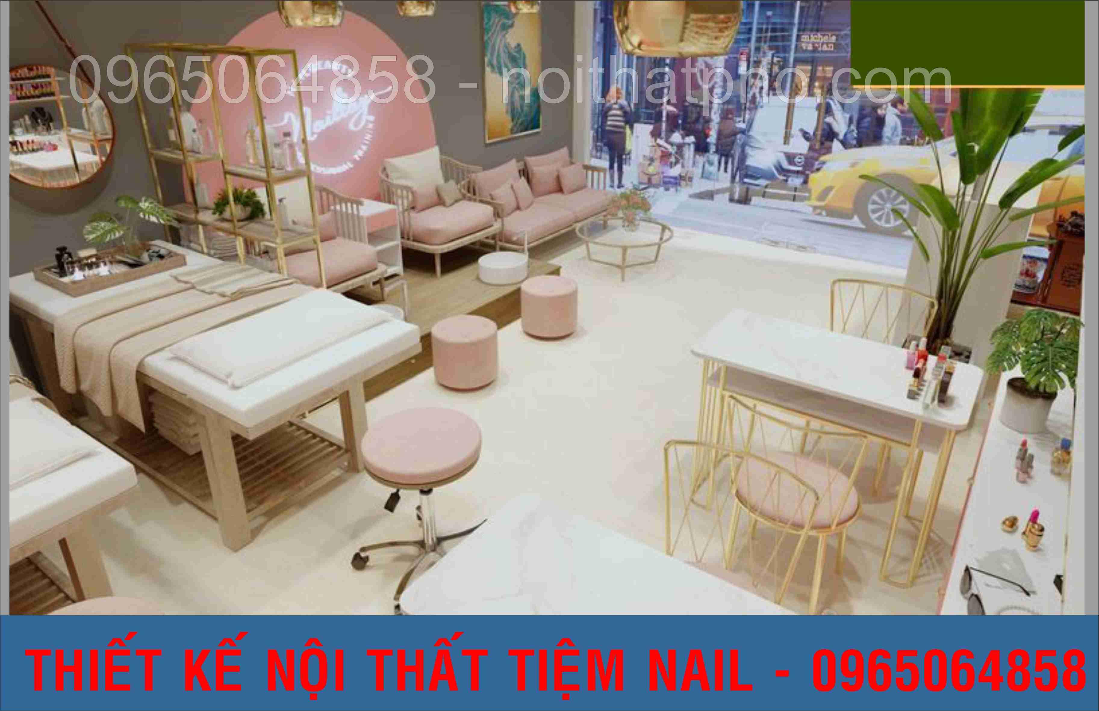 tiệm nail phong cách hàn quốc